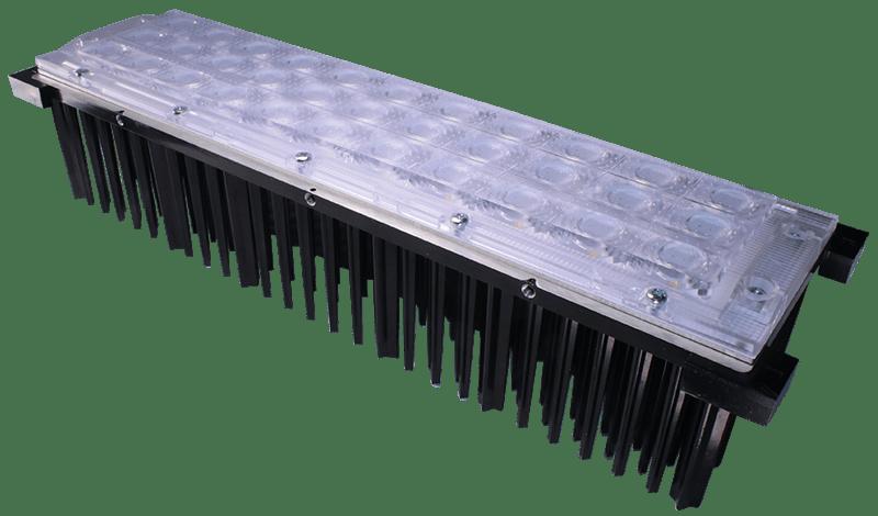 Beispiel eines Horticulture-LED-Moduls mit LED-Optik